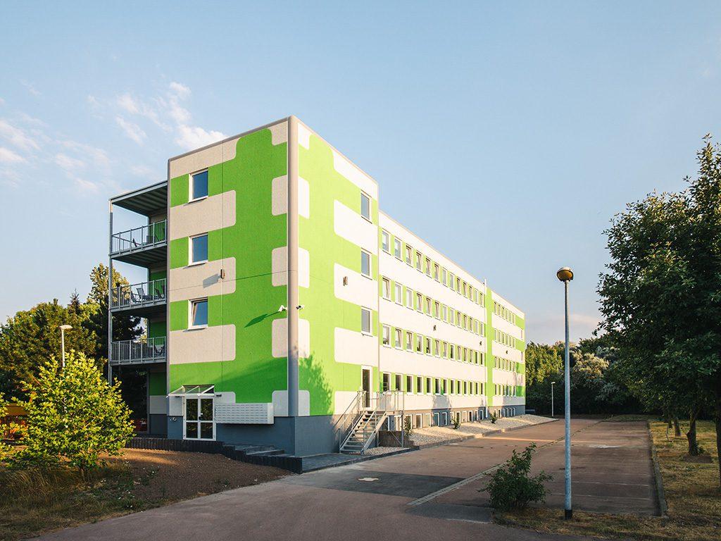 Außenansicht myBoardinghouse in Halle Saale Peißen