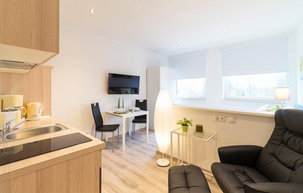 Wohnraum | Classic Boarding Apartment myBoardinghouse Halle Saale Peißen