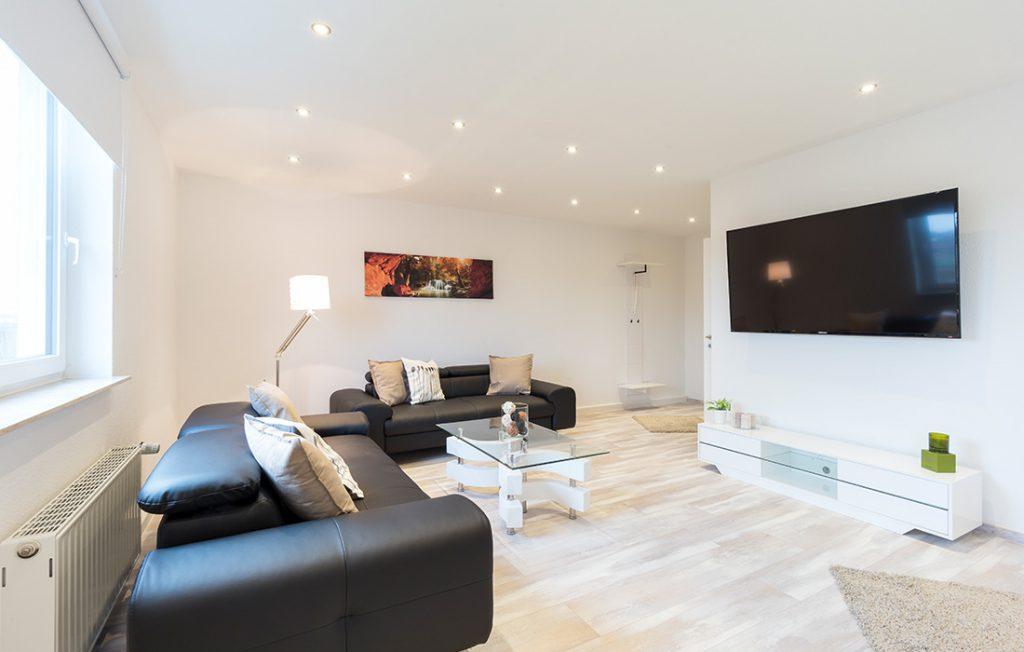 großzügiger Wohnraum | Superior Boarding Apartment myBoardinghouse Halle Saale Peißen