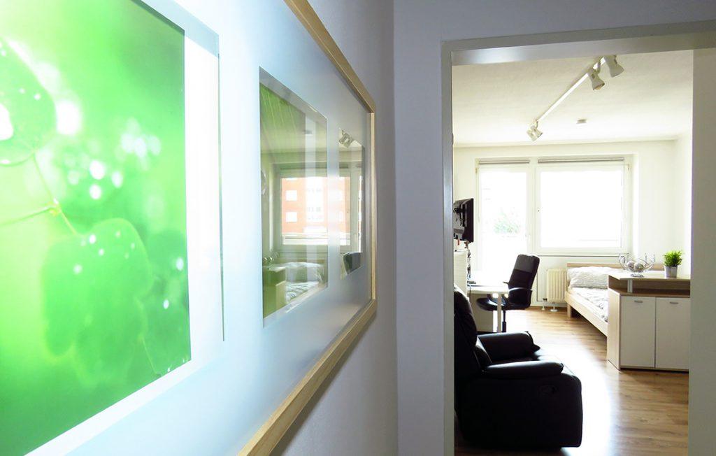 Eingangsbereich | Classic Boarding Apartment myBoardinghouse Aachen Alsdorf