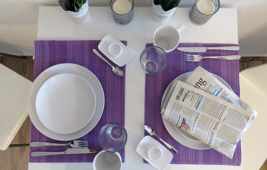 modernes Geschirr und Ausstattung | Premium Boarding Apartment myBoardinghouse Aachen Alsdorf
